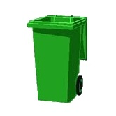 green household waste bin