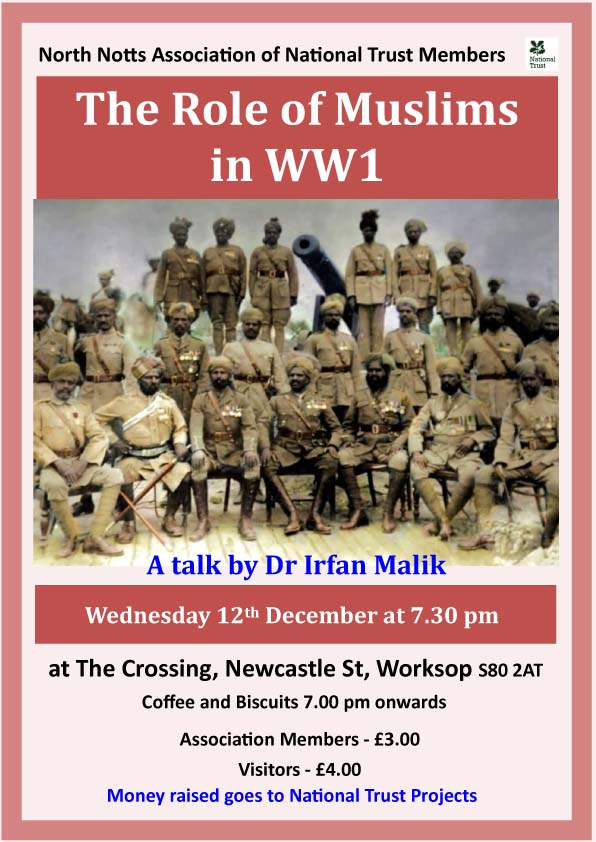 The Role of Muslims in WW1 event.