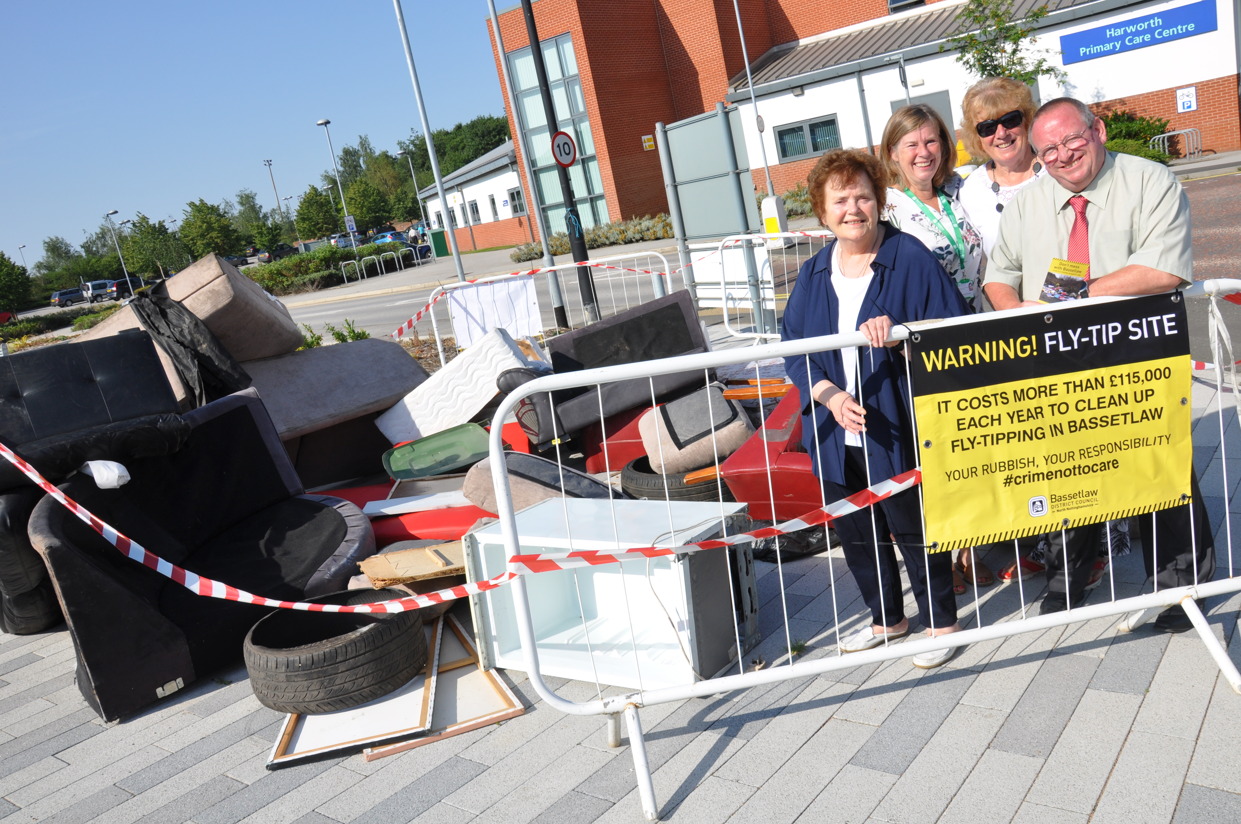 Fly-tipping hits high street