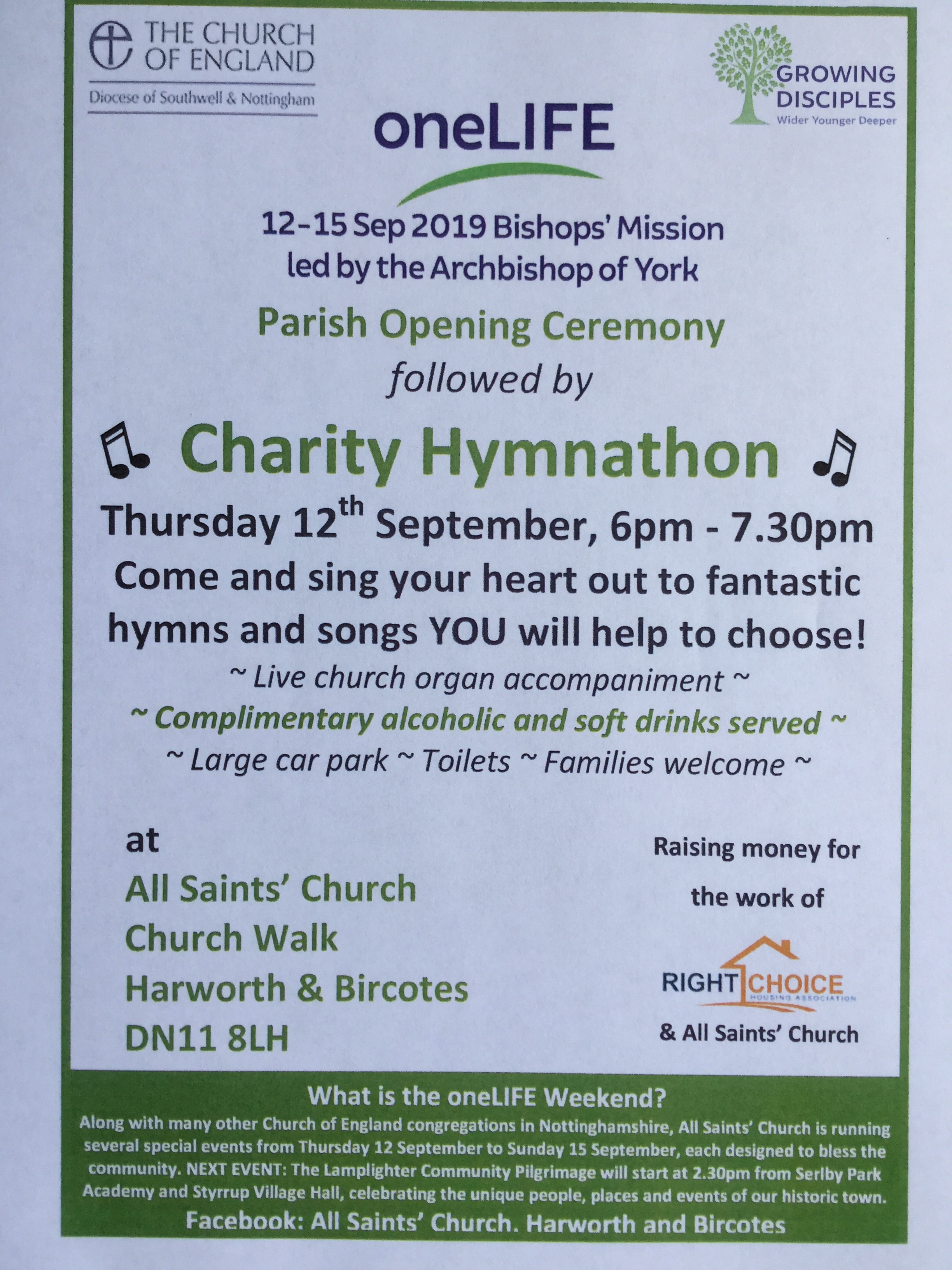 Charity Hymnathon - a oneLIFE Weekend event event.